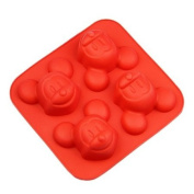Wholeport Silicone Baking Cake Mould Mickey Mouse 4 Cavities