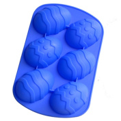 Ihomecooker 6 Even Easter Egg Shaped Silicone Bakeware