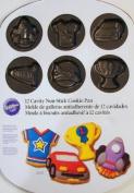 Wilton 12 Cavity Non-stick Cookie Pan Boy's Theme -T S-shirt-trophy, Rocket-race Car-