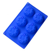 Ihomecooker 6 Even Flower Silicone Bakeware
