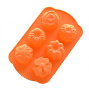 Ihomecooker 6 Even Different Flower Silicone Bakeware