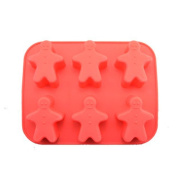 Ihomecooker 6 Even Gingerbread Man Silicone Bakeware