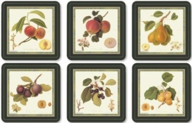 Pimpernel Hooker Fruits Coasters - Set of 6