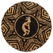 The ULTIMATE Coaster 22.9cm - Kokopelli - 1.3cm Thick, Non-Stick Non-Drip Drink Mat / Coasters Absorbent / Trivet / Printed and Packaged in the USA