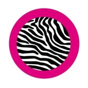 Zebra,Car Coaster Set of 2,Ceramic,2.6x6.6cm x 0.6cm