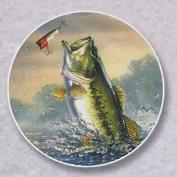 Bass Fishing Auto Coaster, Single Coaster for Your Car