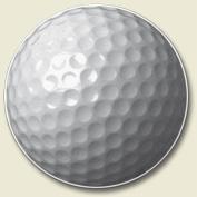Golf Ball Auto Coaster, Single Coaster for Your Car