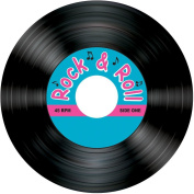 Rock & Roll Record Coasters Party Accessory (1 count)