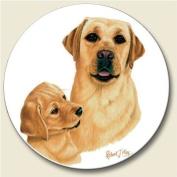Yellow Labrador Retriever Coaster, Single Coaster for Your Car