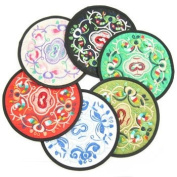 kilofly Vintage Ethnic Floral Design Coaster [Set of 6], with kilofly Mini Gift-for-You Card