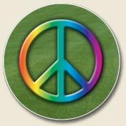 Peace Sign Auto Coaster, Single Coaster for Your Car