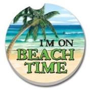 I'm On Beach Time - Single Car Coaster By Terracoasters