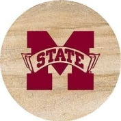 Thirstystone TSMSSU2 Thirstystone Natural Sandstone Coasters- Set of 4- Mississippi State