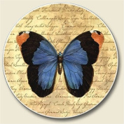 Parchment Butterfly Auto Coaster, Single Coaster for Your Car