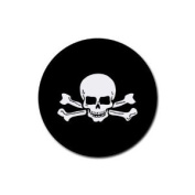 Skull and crossbones Round Rubber Coaster set 4 pack Great Gift Idea