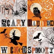 Halloween Words Absorbent Coasters