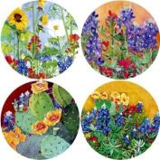 Texas Wildflowers Absorbent Coasters