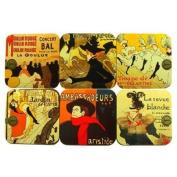 Souvenirs of France - 6 x Toulouse-Lautrec Coasters