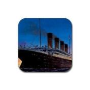Titanic Rubber Square Coaster set (4 pack) Great Gift Idea