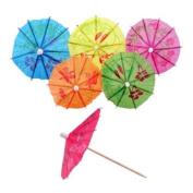 18pc Umbrella Cocktail Stick Spears Stirrers - 6 Tropical Colours