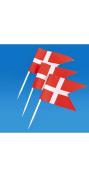 Denmark Flag Toothpicks - 50 Pk.