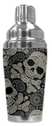 Mugzie® brand 470ml Cocktail Shaker with Insulated Wetsuit Cover - Paisley Skulls