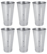SET OF 6, 890ml (Ounce) Malt Cup, Milkshake Cup, Blender Cup, Cocktail Mixing Cup, Stainless Steel, Commercial Grade