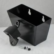 Jet Black Combo Starr X Wall Mount Bottle Opener and Aluminium Cap Catcher Set