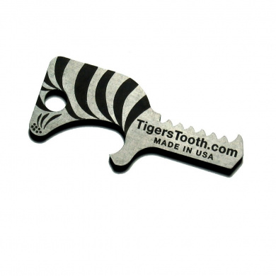 Tiger's Tooth Key Ring Bottle Opener - Made in USA (Keychain Bottle Opener / Best Bottle Opener / Unique Gifts for Men / Beer Bottle Opener)