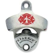 Fireman's Cross U.S.A. MADE Zinc Aluminium Starr X Wall Mount Bottle Opener NEW!