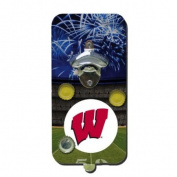 25.4cm NCAA Wisconsin Badgers Football Magnetic Clink and Drink Bottle Opener