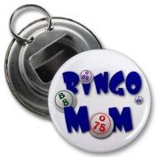 BINGO MOM 5.7cm Button Style Bottle Opener