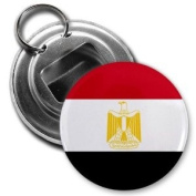 EGYPT Egyptian World Country Flag 5.7cm Button Style Bottle Opener with Key Ring