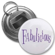 FABULICIOUS Jersey Shore SLANG Fan 5.7cm Button Style Bottle Opener with Key Ring