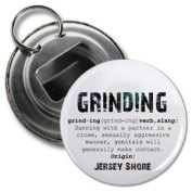 GRINDING Jersey Shore Slang Fan 5.7cm Button Style Bottle Opener with Key Ring