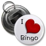 I HEART BINGO 5.7cm Button Style Bottle Opener