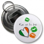 KISS ME I'M IRISH St Patrick's Day 5.7cm Button Style Bottle Opener