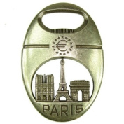 Souvenirs of France - Paris Europe Bottle Opener - Colour : Old Silver