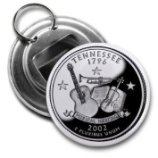 TENNESSEE State Quarter Mint Image 5.7cm Button Style Bottle Opener