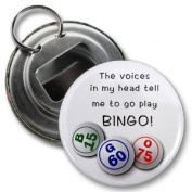 VOICES SAY PLAY BINGO 5.7cm Button Style Bottle Opener