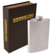 Smuggling Book Including an 240ml Stainless Steel Flask