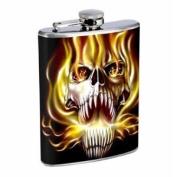 Flask 240ml Stainless Steel Skull Design-020