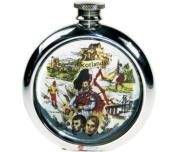 180ml Round Scottish Scene Picture Flask