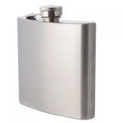 180ml Stainless Steel Whisky Alcohol Hip Flask with Screw Cap