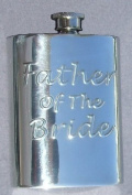 Father of the Bride Fine English Pewter Flask