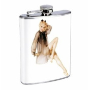 Flask 240ml Stainless Steel Sexy Hot Pin Up Girl Design-009