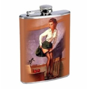 Flask 240ml Stainless Steel Sexy Hot Pin Up Girl Design-018