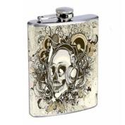 Flask 240ml Stainless Steel Skull Design-004
