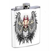 Flask 240ml Stainless Steel Skull Design-019