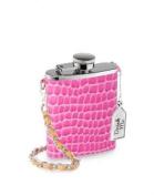 Trendy Wild Eye Designs Mini 90ml Pink Croc Style Flask with Purse Chain